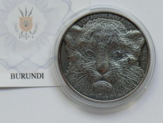 Burundi - 5,000 Francs 2014 'The African Baby - Leopard' - 1 oz silver