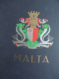 Malta 1860/1994 - collection in a Davo binder.
