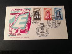 "Luxembourg 1956 - First Day Cover Europe CEPT ""Scaffolds"""