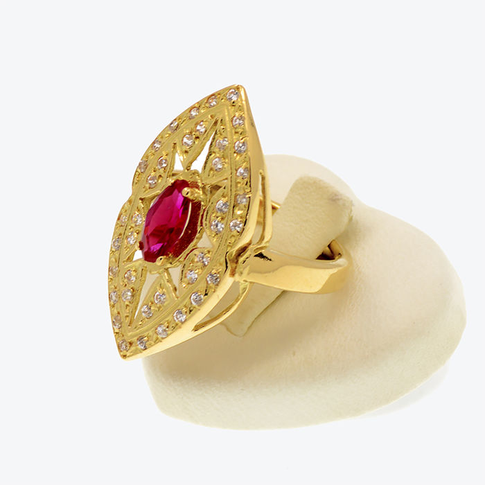 trendy ring inlay arab ladies design wedding rings gold finger detail plated buy product zircon innovative