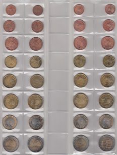 Austria - Year packs Euro coins 2002/2013 without 2012 (11 pieces)