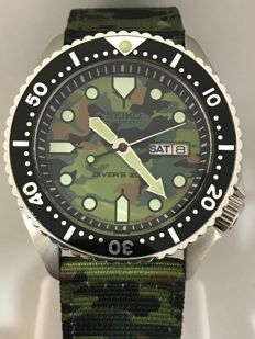 Seiko - Diver's 200M Turtle Camouflage  - 6309-7209 - Homme - 2017