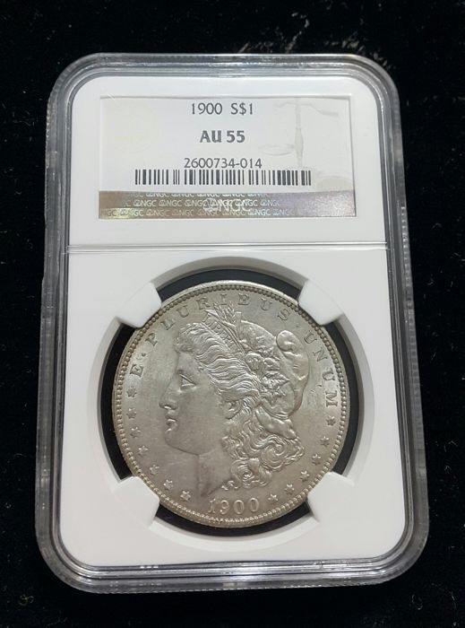 USA - Dollar 1900 Morgan in NGC slab -Silver