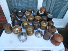 Collection of 29 tobacco jars