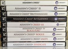 Assassin's creed - 9 PC DVD Roms in original case.