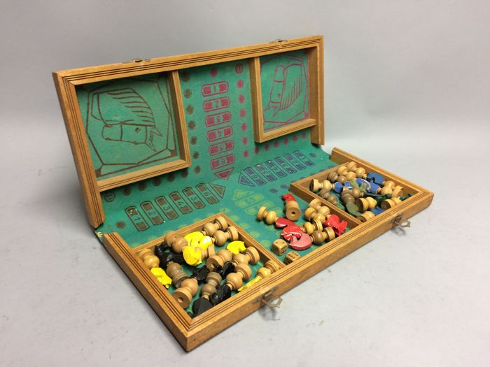 "Early edition of the party game ""Mens Erger Je Niet"" (Ludo game)"
