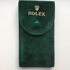 Rolex NEW green suède Watch Etui