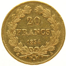 France - 20 francs 1834A Louis Philippe I - gold