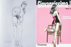 "Casotto, Giovanna - volume ""Giovannissima!"" Tome 3 + an original illustration ""Pin Up"" (2017)"