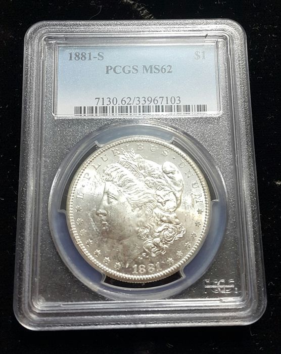 United States - 1 Morgan Dollar 1881-s - silver