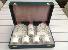 Minton, Porcelain Bellemeade 6 cup and saucers in luxurious box