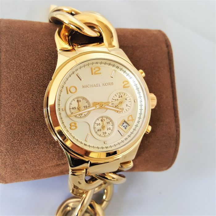 Michael Kors - Runway Twist Chronograph Gold (Ladies) - 2017, New, Complete in Box