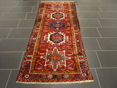 Beautiful old Persian carpet Heriz runner made in Iran 100 x 230cm circa 1950, very good condition