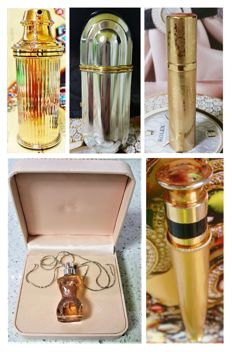 Set of 5 Luxury Exclusive Perfume Bottles, vintage, limited edition