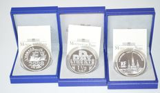 France - 1.5 euro 2004 and 2008 (3 coins) - silver