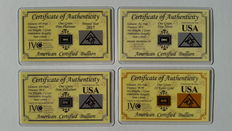 ACB Gold Silver Platinum Palladium Investment Pack with Certificates of Authenticity