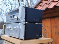 Marantz Model 1050 console stereo amplifier & Model 2050 AM/FM stereo tuner in de zeldzame rack uitvoering