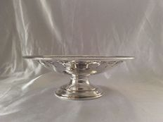 Beautiful vintage centrepiece in English silver plate by Walker & Hall, British Army REME, presentation bowl, around 1960-1966