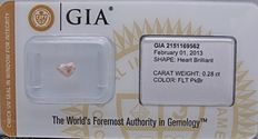 0.28 ct Fancy Light Pink-Brown with GIA certificate