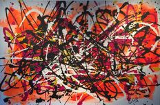 Rick Triest - The contemporary movement compositions - nuon marks - pink and orange, yellow and white; hide!