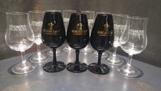 Famous Grouse Whisky Glass x8 & Macallan Black Whisky Glass x3 Special Set