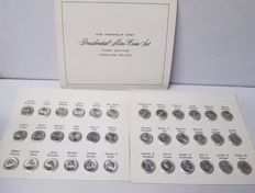 Franklin Mint, genuine silver, Presidential mini coins set - first edition