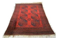 Beautiful Persian/Afghan carpet elephant foot 216 x 158cm. End of the 20th century