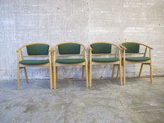 K. Høffer-Larse Danmark - set of four designer chairs, 1970s