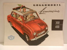 GOGGOMOBIL - 250, 300 and 400 and GLAS brochures from 1958 - 5 pieces