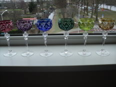 WMF Crystal Cabinet - 6 beautiful wine rummers, Germany, late 20th century