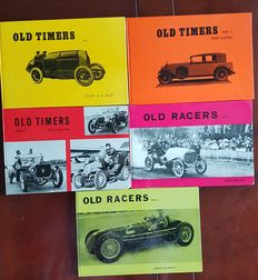5 Beautiful books 1960 Old Timers 1,2,3, by Heldt, Ebeling and Kuipers and Old Racers 1 & 2 by Ebeling and Kuipers