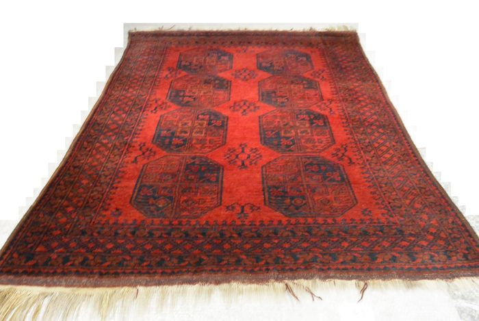 beautiful persian afghan carpet elephant foot 216 x 158cm end of the 20th century catawiki. Black Bedroom Furniture Sets. Home Design Ideas