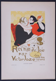 Toulouse Lautrec  - 'Reine de joie' original small lithograph poster from the 'Les Affiches Illustrées' series