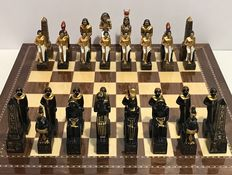 Polychromatic Egyptian chess collection