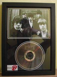 Rolling Stones, framed photo and  CD disc. 'Ruby Tuesday', Decca Record label.