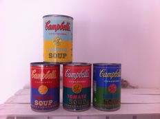 Andy Warhol (after) - Soup can - lot of 4 pop art soup cans
