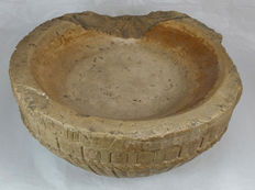 Stone holy water stoup - probably made in Spain - 19th century