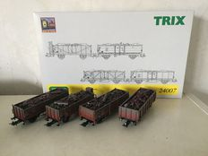 Trix H0 - 24007 – Box car set of the DB