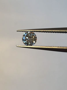Brilliant cut diamond of 0.37 ct, colour E (very good) and VS2 clarity, including HRD Antwerp certificate