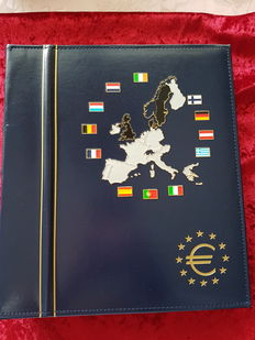 Europe - lighthouse Euro collection (2002) album with Euro coins 12 Euro countries 1999-20002