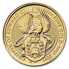 Great Britain - 25 pounds 2017 'The Queen's Beasts - Griffin of Edward III' - ¼ oz Gold