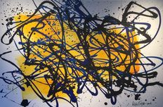 Rick Triest - The contemporary movement compositions - yellow marks - black and blue loves my yellow