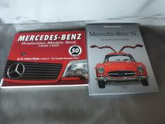 2 Mercedes Benz books production models 1946-1995 - Mercedes SL sports car legend