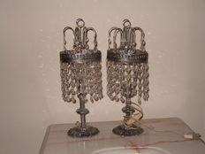 2 Crystal Lamps from the Second Half of the 20th Century