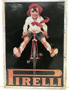 Embossed metal sign PIRELLI