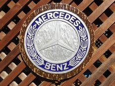 MERCEDES BENZ  - Unique Large logo carved in wood - 40 cm