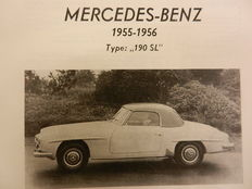 Automotive Technical Handbook MERCEDES BENZ 190SL / 180 / 220A / 220. Piet Olyslager 1950s