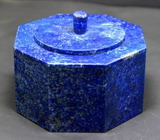 Handmade Lapis Lazuli Jewelry Box with Marble for Rings & Loose gemstones Docarative - 460 gram , 75*99 mm