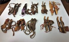 10 pairs of old/antique Frisian runners - Dutch ice skates