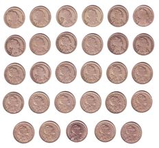 Portugal - Complete set of 50 escudos coins - 1927 to 1968 - Lisbon
